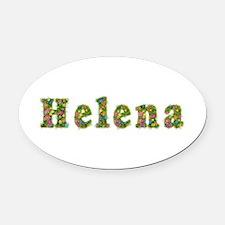 Helena Floral Oval Car Magnet
