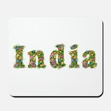 India Floral Mousepad