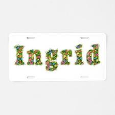 Ingrid Floral Aluminum License Plate