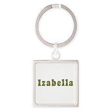 Izabella Floral Square Keychain