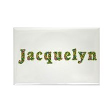 Jacquelyn Floral Rectangle Magnet