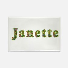 Janette Floral Rectangle Magnet