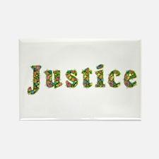 Justice Floral Rectangle Magnet