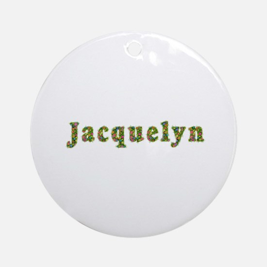 Jacquelyn Floral Round Ornament