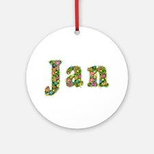 Jan Floral Round Ornament