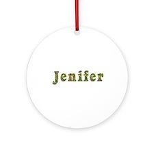 Jenifer Floral Round Ornament