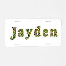 Jayden Floral Aluminum License Plate
