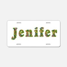 Jenifer Floral Aluminum License Plate