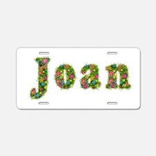 Joan Floral Aluminum License Plate