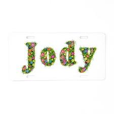 Jody Floral Aluminum License Plate