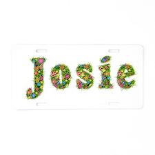 Josie Floral Aluminum License Plate