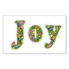Joy Floral Rectangle Decal