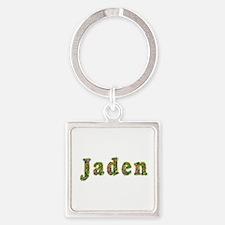 Jaden Floral Square Keychain