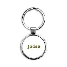 Jaden Floral Round Keychain