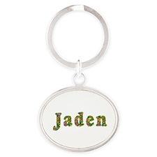 Jaden Floral Oval Keychain
