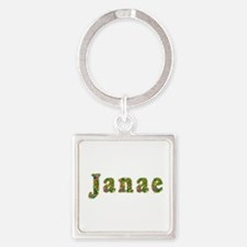 Janae Floral Square Keychain