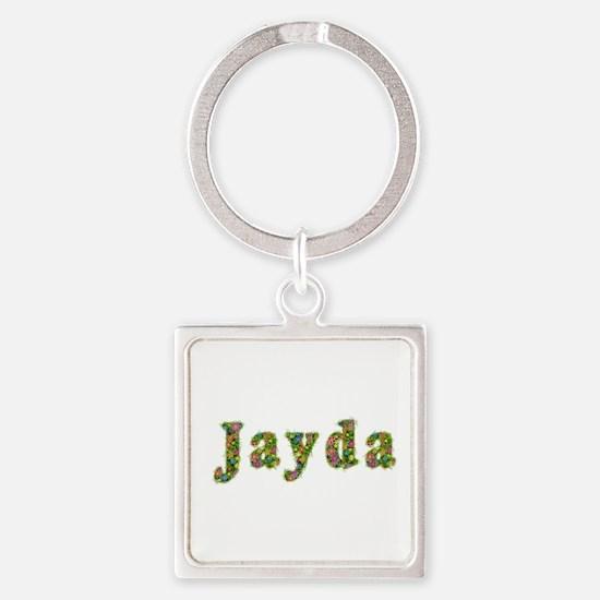 Jayda Floral Square Keychain