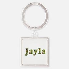 Jayla Floral Square Keychain