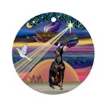 Xmas Star & Manchester (crpd)Ornament (Round)