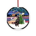 Xmas Magic & Manchester (crpd) Ornament (Round)
