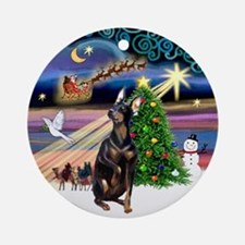 Xmas Magic & Manchester (crpd) Ornament (Round)