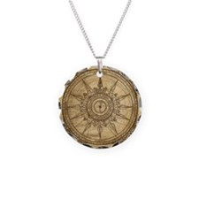 Old Compass Rose 2 Necklace