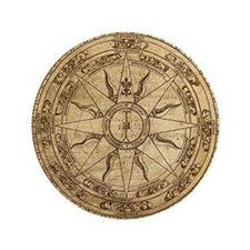 "Old Compass Rose 4 3.5"" Button"