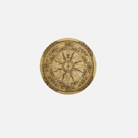 Old Compass Rose 4 Mini Button