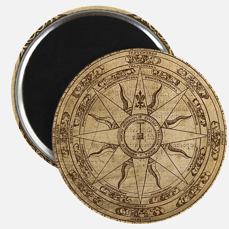 Old Compass Rose 4 Magnet
