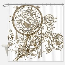Clockwork Collage Shower Curtain