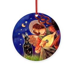Mandolin Angel & Manchester (cr) Ornament (Round)