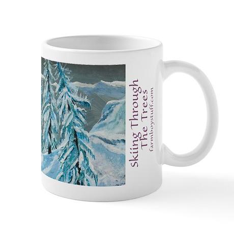 Skiing Through The Trees Mug