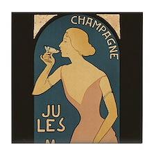 Vintage Champagne Art Tile Coaster