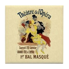 Vintage Dance Hall Poster Art Tile Coaster