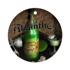 Absinthe Still Life On Tray Ornament (Round)