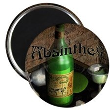 Absinthe Still Life On Tray Magnet