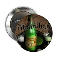 "Absinthe Still Life On Tray 2.25"" Button"