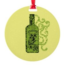 Absinthe Bottle With Swirls Ornament