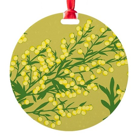 Absentia Flower Round Ornament