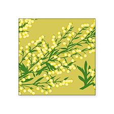 "Absentia Flower Square Sticker 3"" x 3"""