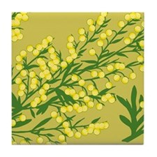 Absentia Flower Tile Coaster