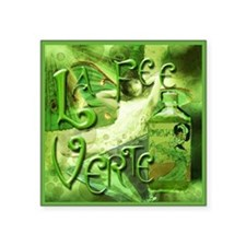 "La Fee Verte Collage Square Sticker 3"" x 3"""