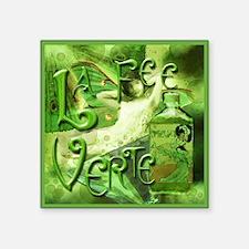 """La Fee Verte Collage Square Sticker 3"""" x 3"""""""