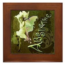 Absinthe Collage Framed Tile