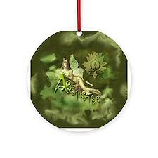 Absinthe Fairy Collage Ornament (Round)