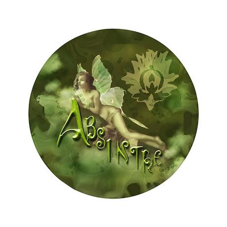 """Absinthe Fairy Collage 3.5"""" Button"""