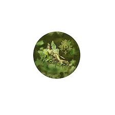 Absinthe Fairy Collage Mini Button
