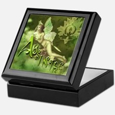 Absinthe Fairy Collage Keepsake Box