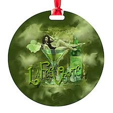 La Fee Verte In Glass Collage Ornament