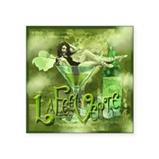 "La Fee Verte In Glass Collage Square Sticker 3"" x"